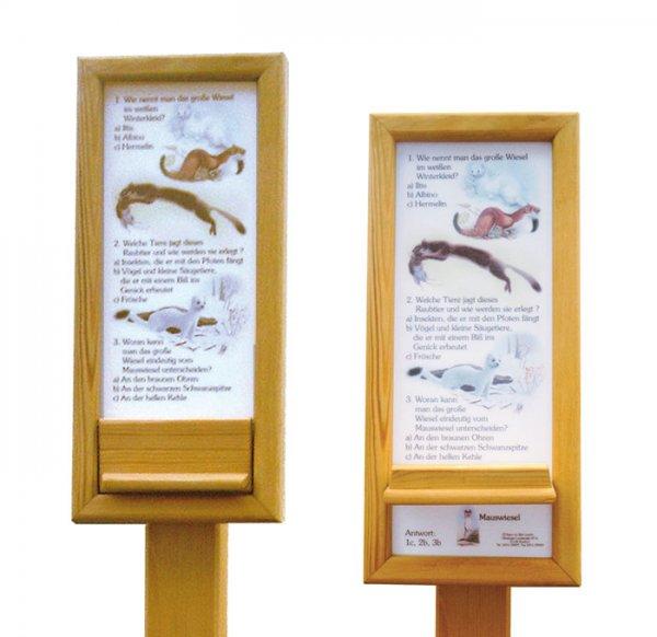 Holz-Trägergerüst mit Antwortklappe