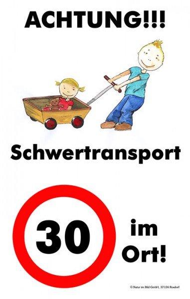 30er Zone - Schwertransport