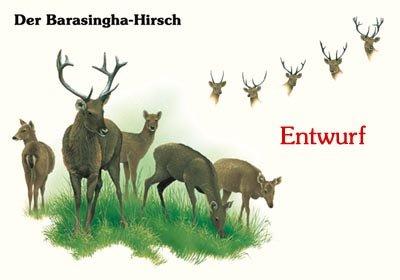 Der Barasingha-Hirsch