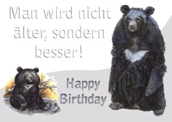 Geburtstagskarte Bär