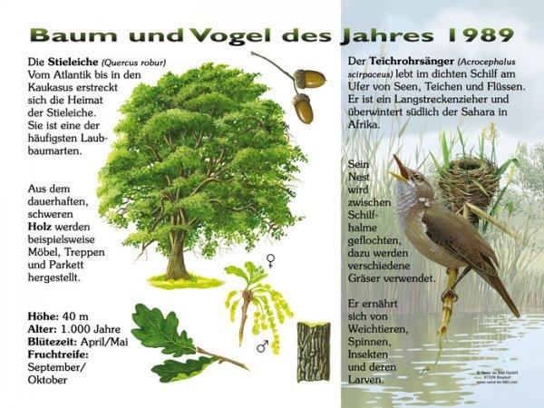 Baum und Vogel des Jahres 1989
