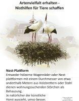 Nisthilfe für Tiere - Nest-Plattform