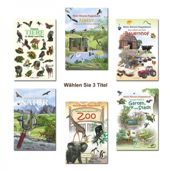 Paket 3x Naturbuch für Kinder