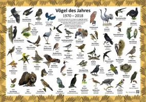 Vögel des Jahres 1970-2018