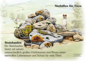 Nisthilfen für Tiere - Steinhaufen
