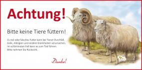 Achtung! Bitte keine Tiere Füttern - Schaf