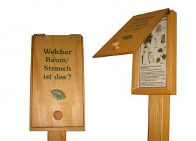 Holz-Trägergerüst mit Frageklappe