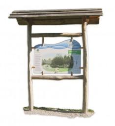 Kreativ Holz-Trägergerüst für frei hängende Lehrtafel