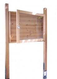 Holz-Trägergerüst mit Glaselement