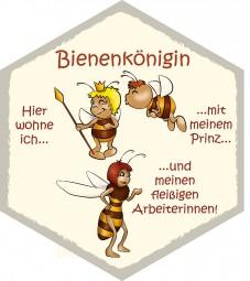 Wabe Bienenkönigin mit Prinz und Arbeiterin